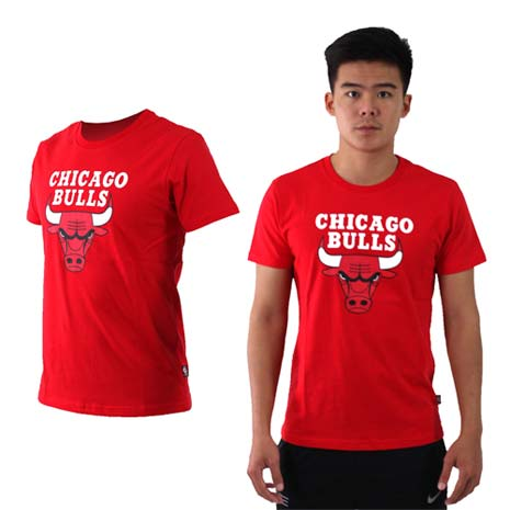 【NBA】公牛隊-男女美國職籃印花圓領短袖T恤-籃球 CHICAGO BULLS 紅白黑
