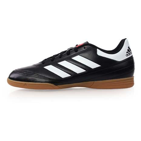 【ADIDAS】GOLETTO VI IN 男室內足球鞋-愛迪達 黑白