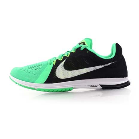【NIKE】ZOOM STREAK LT 3 男路跑訓練鞋-慢跑 路跑 健身 綠黑白24.5