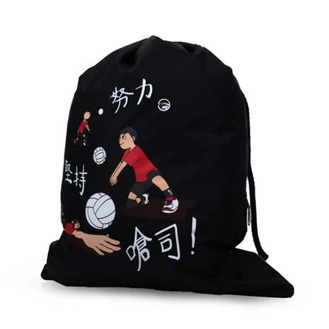 【MIZUNO】多功能簡易背袋-束口包 後背包 雙肩包 鞋袋 美津濃 黑紅F