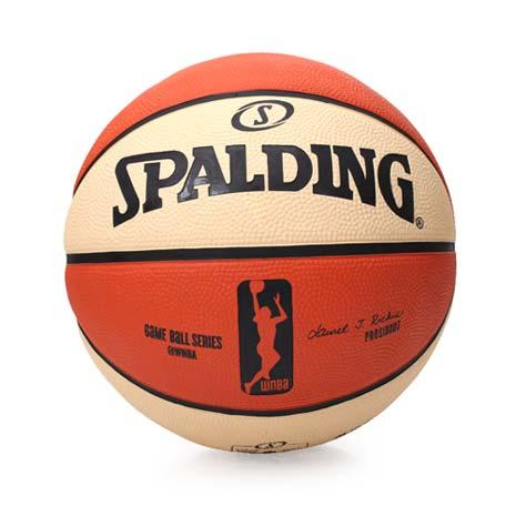 【SPALDING】WNBA 女子用球-戶外 NBA女子職籃 斯伯丁籃球 米白橘F