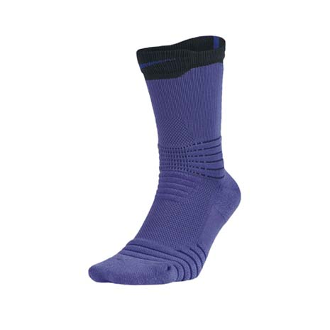 【NIKE】BASKETBALL男菁英籃球長襪-長筒襪 襪子 紫黑M