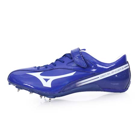 【MIZUNO】GEO SILENCER 8 男女田徑釘鞋-競賽 短距離 美津濃 藍白24.5