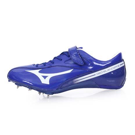 【MIZUNO】GEO SILENCER 8 男女田徑釘鞋-競賽 短距離 美津濃 藍白26