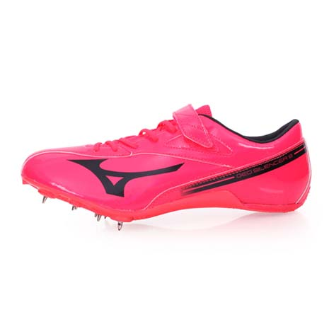 【MIZUNO】GEO SILENCER 8 男女田徑釘鞋-競賽 短距離 美津濃 桃紅黑27.5