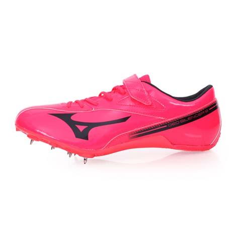 【MIZUNO】GEO SILENCER 8 男女田徑釘鞋-競賽 短距離 美津濃 桃紅黑28