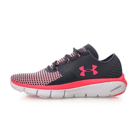【UNDER ARMOUR】SPEEDFORM FORTIS 2 女慢跑鞋-路跑 灰螢光粉