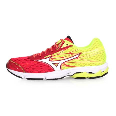 【MIZUNO】WAVE CATALYST 2 男慢跑鞋-路跑 美津濃 紅黃白