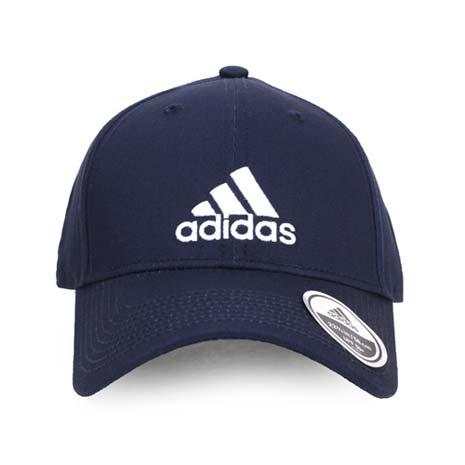 【ADIDAS】運動帽-鴨舌帽 帽子 慢跑 路跑 登山 防曬 丈青白-服飾‧鞋包‧內著‧手錶-myfone購物
