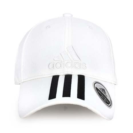 【ADIDAS】運動帽-帽子 鴨舌帽 防曬 愛迪達 白黑-服飾‧鞋包‧內著‧手錶-myfone購物