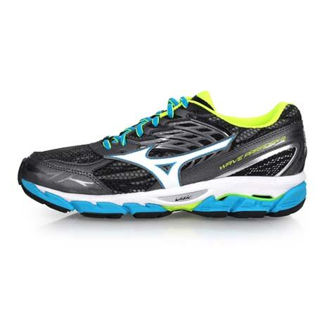 【MIZUNO】WAVE PARADOX 3 男慢跑鞋-路跑 健身 美津濃 深灰湖水藍27