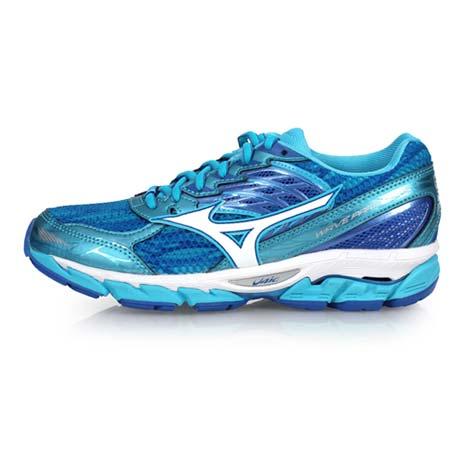 【MIZUNO】WAVE PARADOX 3 女慢跑鞋-路跑 訓練 美津濃 水藍白25.5