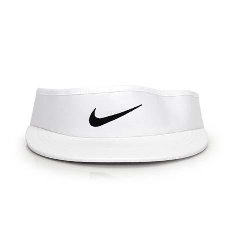 【NIKE】GOLF 可調式高爾夫遮陽帽-中空帽 帽子 白黑
