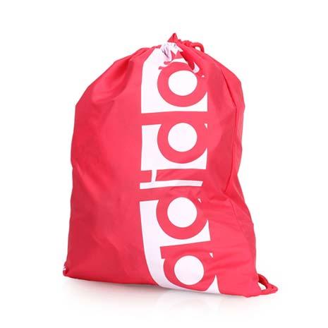 【ADIDAS】運動束口袋-後背包 雙肩包 鞋袋 收納袋 愛迪達 桃紅F