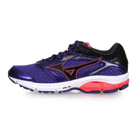 【MIZUNO】WAVE IMPETUS 4 女慢跑鞋-跑步 美津濃 深紫黑粉23