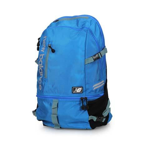 【NEWBALANCE】後背包-雙肩包 電腦包 旅行包 附防水背包套 NB 藍銀F