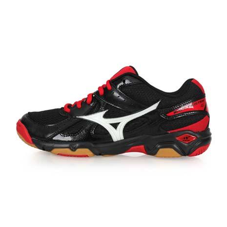 【MIZUNO】WAVE TWISTER 4 男女排球鞋-美津濃 黑紅28.5