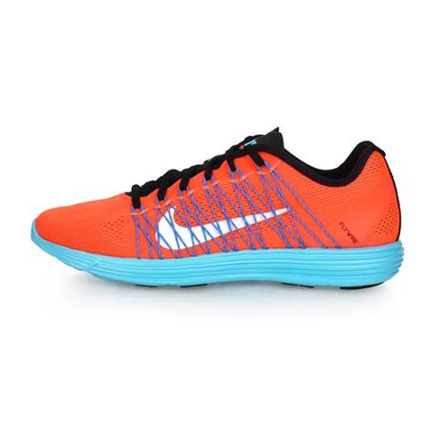 【NIKE】LUNARACER+3 男慢跑鞋-跑步 輕跑鞋 螢光橘藍27.5