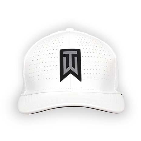 【NIKE】GOLF TIGER WOODS 系列高爾夫帽-帽子 鴨舌帽 防曬 運動 白黑銀L
