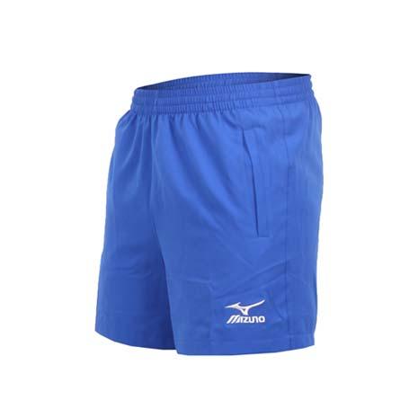 【MIZUNO】男桌球短褲-美津濃 藍白XL