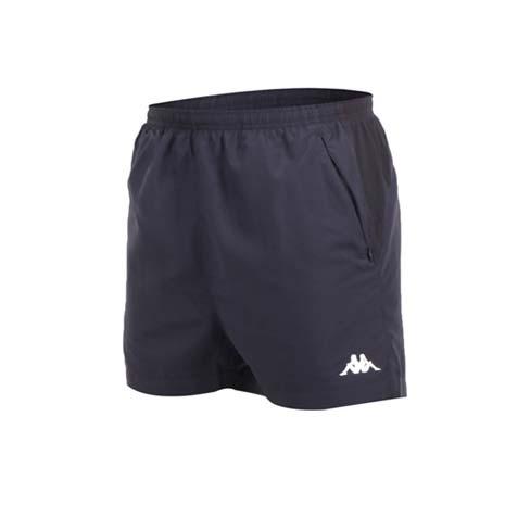 【KAPPA】男單層短褲-慢跑 路跑 深灰白XL