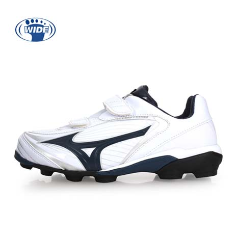 【MIZUNO】SELECT 9 JR-WIDE 男女兒童棒壘球鞋-棒球 美津濃 白丈青22
