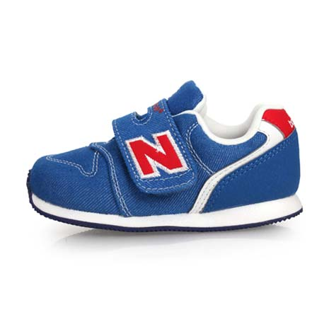 【NEWBALANCE】996系列 男女兒童復古慢跑鞋-魔鬼氈 NB N字鞋 藍紅白14.5