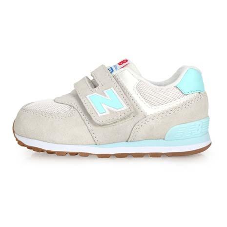 【NEWBALANCE】574系列-WIDE 男女兒童復古休閒鞋-童鞋 NB 米白藍14.5