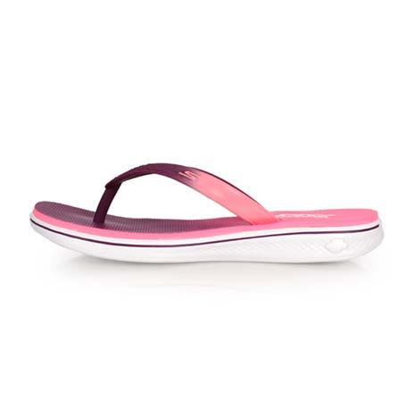 【SKECHERS】H2 GOGA-SPLASH 女夾腳拖鞋-人字拖 游泳 海邊 螢光粉紫24