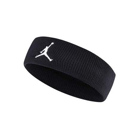 【NIKE】JORDAN JUMPMAN 單色頭帶-飛人喬登 籃球 NBA 一條入 黑白F
