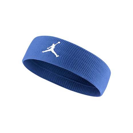 【NIKE】JORDAN JUMPMAN 單色頭帶-飛人喬登 籃球 NBA 一條入 藍白F