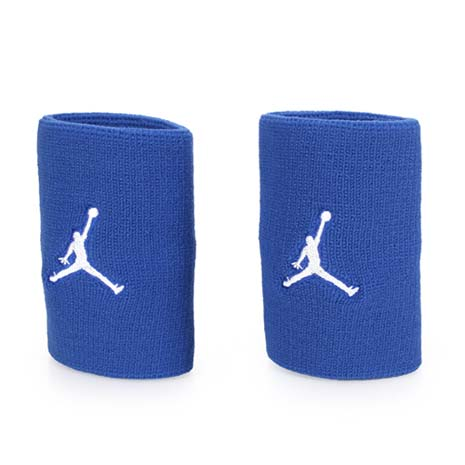 【NIKE】JORDAN JUMPMAN單色腕帶-飛人喬登 籃球 NBA 護腕 一雙入 藍白F