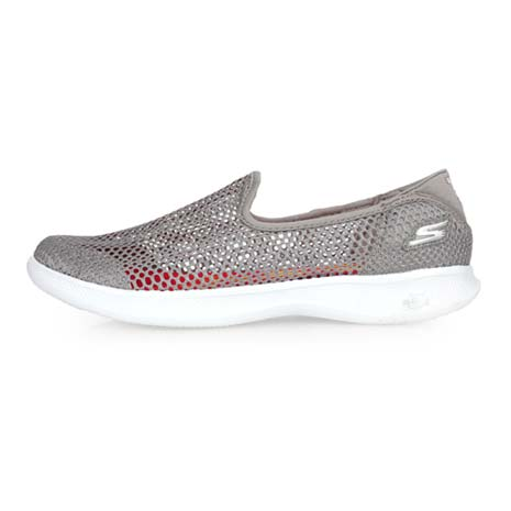 【SKECHERS】GO STEP LITE-WISPY 女休閒健走鞋-洞洞鞋 淺灰白24.5
