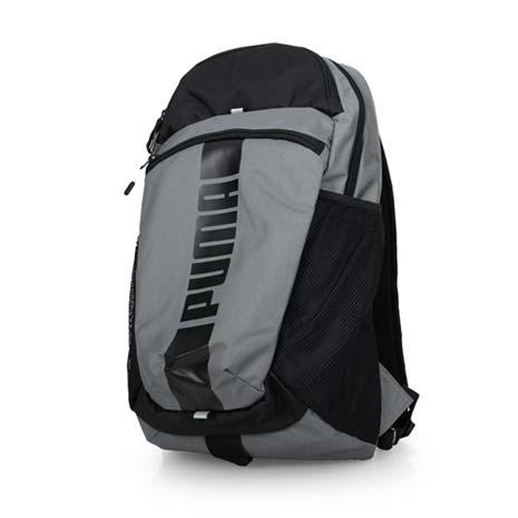 【PUMA】DECK後背包-20吋筆電 雙肩包 旅行包 電腦包 鐵灰黑F