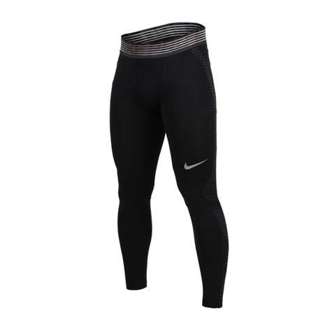 【NIKE】男針織中長褲-緊身褲 內搭褲 路跑 慢跑 訓練 黑灰XL
