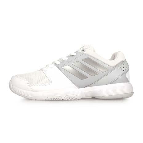 【ADIDAS】BARRICADE COURT W 女網球鞋-愛迪達 白淺灰24