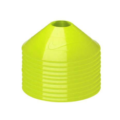 【NIKE】碟形訓練用具-足球 田徑 直排輪 健身 十入 螢光黃F