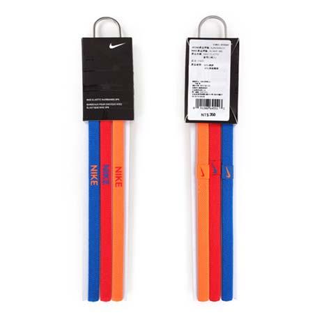 【NIKE】3條入運動頭帶-髮帶 跑步 瑜珈 藍紅螢光橘F