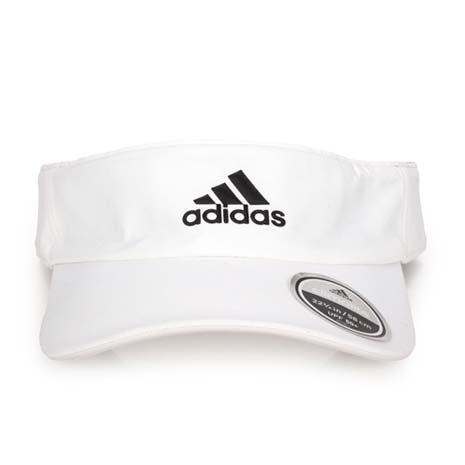 【ADIDAS】中空帽-空心帽 帽子 路跑 慢跑 遮陽 防曬 白黑L