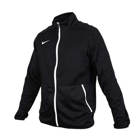 【NIKE】男針織籃球夾克-立領外套 慢跑 路跑 黑白M