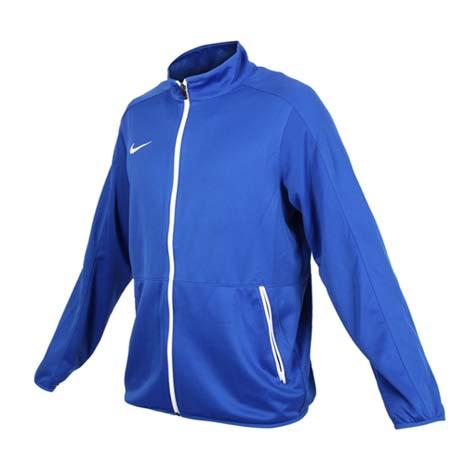 【NIKE】男針織籃球夾克-立領外套 慢跑 路跑 藍白S