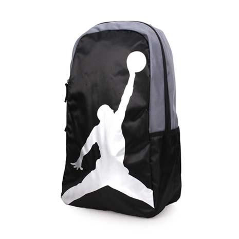 【NIKE】JORDAN運動後背包-雙肩包 電腦包 旅行包 籃球 喬丹 黑銀F