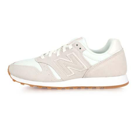 【NEWBALANCE】373系列-B 女復古休閒鞋 - 麂皮 NB N字鞋 米白24.5
