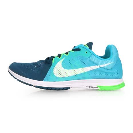 【NIKE】ZOOM STREAK LT 3 男女路跑鞋-運動 慢跑 湖水藍螢光綠28