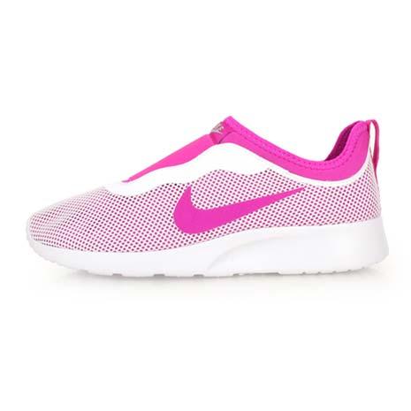 【NIKE】WMNS TANJUN SLIP 女休閒鞋-襪套式 慢跑 路跑 白粉紅25