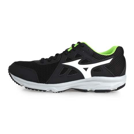 【MIZUNO】SPARK 2 男慢跑鞋 - 路跑 美津濃 黑白綠27.5