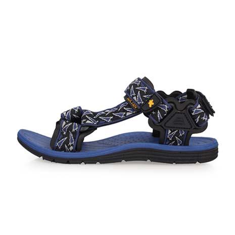 【SOFO】男運動涼鞋-海邊 海灘 沙灘 戲水 藍黑25.5