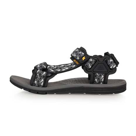 【SOFO】男運動涼鞋-海邊 海灘 沙灘 戲水 灰黑25