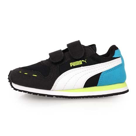 【PUMA】CABANA RACER MESH V INF 男女兒童慢跑鞋-魔鬼氈 慢跑 黑湖水藍15