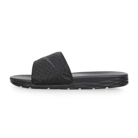 【NIKE】BENASSI SOLARSOFT SLIDE 2 男運動拖鞋 灰黑28
